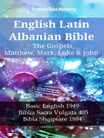 English Latin Albanian Bible - The Gospels - Matthew, Mark, Luke & John