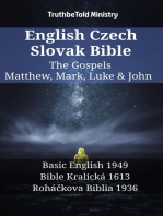 English Czech Slovak Bible - The Gospels - Matthew, Mark, Luke & John