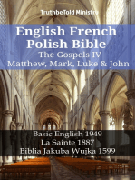 English French Polish Bible - The Gospels IV - Matthew, Mark, Luke & John
