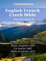 English French Czech Bible - The Gospels II - Matthew, Mark, Luke & John
