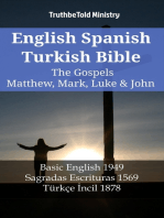 English Spanish Turkish Bible - The Gospels II - Matthew, Mark, Luke & John