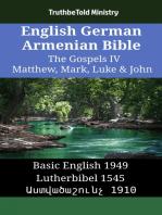 English German Armenian Bible - The Gospels IV - Matthew, Mark, Luke & John