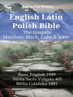 English Latin Polish Bible - The Gospels - Matthew, Mark, Luke & John