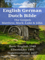 English German Dutch Bible - The Gospels III - Matthew, Mark, Luke & John