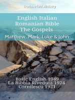 English Italian Romanian Bible - The Gospels - Matthew, Mark, Luke & John