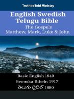 English Swedish Telugu Bible - The Gospels - Matthew, Mark, Luke & John