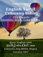 English Tamil Cebuano Bible - The Gospels - Matthew, Mark, Luke & John