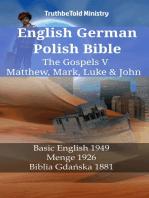 English German Polish Bible - The Gospels V - Matthew, Mark, Luke & John
