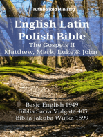 English Latin Polish Bible - The Gospels II - Matthew, Mark, Luke & John