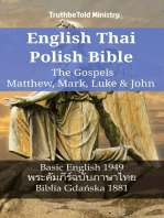 English Thai Polish Bible - The Gospels - Matthew, Mark, Luke & John
