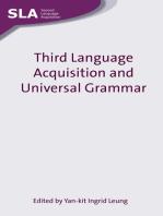 Third Language Acquisition and Universal Grammar