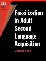 Fossilization in Adult Second Language Acquisition