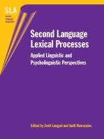Second Language Lexical Processes