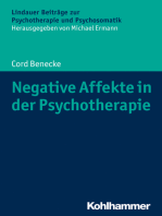 Negative Affekte in der Psychotherapie