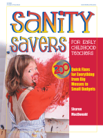 Sanity Savers for Early Childhood Teachers