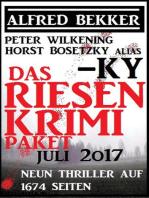 Das Riesen Krimi Paket Juli 2017