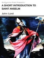 A Short Introduction to Saint Anselm
