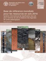 Base de référence mondiale pour les ressources en sols 2014