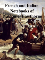 Passages from the French and Italian Notebooks of Nathaniel Hawthorne