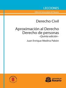 Derecho Civil. Aproximación al Derecho. Derecho de personas: Quinta edición