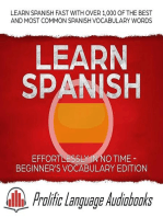 Learn Spanish Effortlessly in No Time – Beginner's Vocabulary Edition