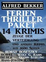 Ferien Thriller Paket 14 Krimis