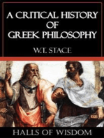 A Critical History of Greek Philosophy [Halls of Wisdom]