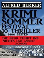 Krimi Sommer Festival 10 Thriller, 1400 Seiten