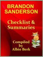 Brandon Sanderson: Best Reading Order - with Summaries & Checklist