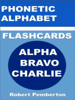 Phonetic Alphabet Flashcards. Alpha Bravo Charlie