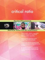 critical ratio Standard Requirements