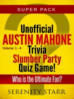 Unofficial Austin Mahone Trivia Slumber Party Quiz Game Super Pack Volumes 1-4