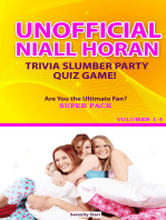 Unofficial Niall Horan Trivia Slumber Party Quiz Game Super Pack Volumes 1-4