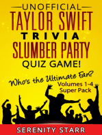 Unofficial Taylor Swift Trivia Slumber Party Quiz Game Super Pack Volumes 1-4