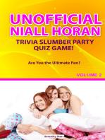 Unofficial Niall Horan Trivia Slumber Party Quiz Game Volume 2