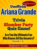 Unofficial Ariana Grande Trivia Slumber Party Quiz Game Super Pack Volumes 1-4