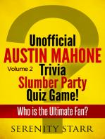 Unofficial Austin Mahone Trivia Slumber Party Quiz Game Volume 2