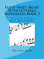 Flute Sheet Music With Lettered Noteheads Book 2