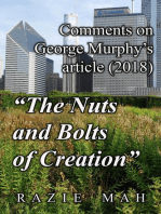 """Comments on George Murphy's Article (2018) """"The Nuts and Bolts of Creation"""""""