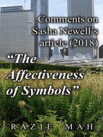 """Comments on Sasha Newell's Article (2018) """"The Affectiveness of Symbols"""""""