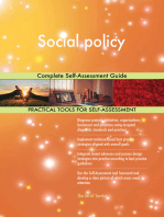 Social policy Complete Self-Assessment Guide
