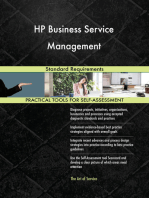 HP Business Service Management Standard Requirements