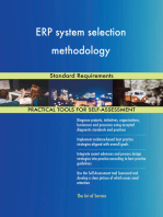ERP system selection methodology Standard Requirements