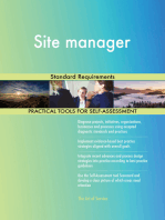 Site manager Standard Requirements