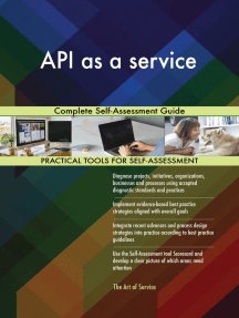 API as a service Complete Self-Assessment Guide