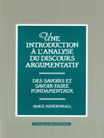 Une Introduction à l'analyse du discours argumentatif