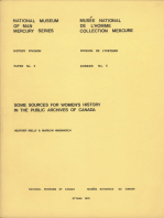 Some sources for women's history in the Public Archives of Canada