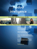 Product intelligence Complete Self-Assessment Guide