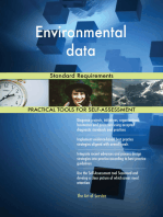 Environmental data Standard Requirements
