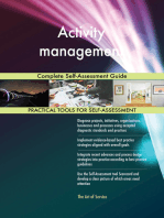 Activity management Complete Self-Assessment Guide
